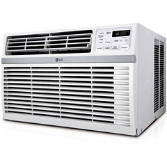 LG 10000 BTU 115V Window-Mounted Air Conditioner with Remote Control