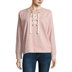 a.n.a. Lace Up Sweatshirt