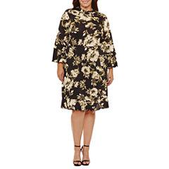 Soho Long Sleeve Empire Waist Dress-Plus