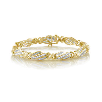 2 CT. T.W. Genuine White Diamond 10K Gold Tennis Bracelet