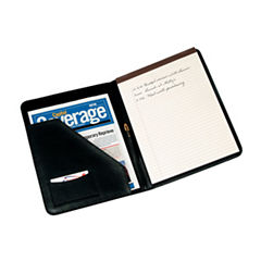 Royce Leather Suede Lined Leather 6-Slot Padfolio
