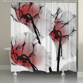 Red Shower Curtains For Bed Bath