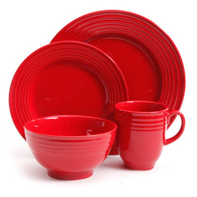 Red. $54.99 sale  sc 1 st  JCPenney & Gibson Red Dinnerware For The Home - JCPenney