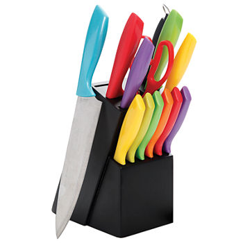 Gibson Home Color Vibes 14-pc. Stainless Steel Cutlery