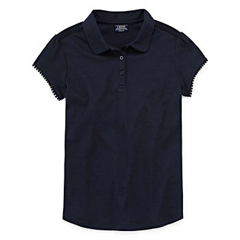 Izod Exclusive Little & Big Girls Short Sleeve Polo Shirt