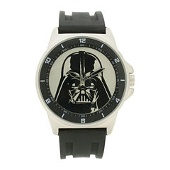 Darth Vader Mens Black Silicone Strap Watch