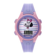 Peanuts Snoopy Kids Purple Plastic Strap Digital Watch