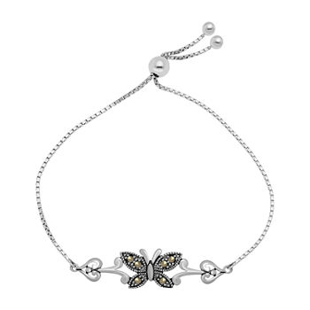 Sparkle Allure Crystal Box Butterfly Bolo Bracelet