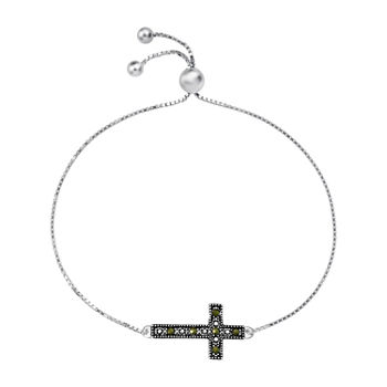 Sparkle Allure Crystal 8 Inch Box Cross Bolo Bracelet