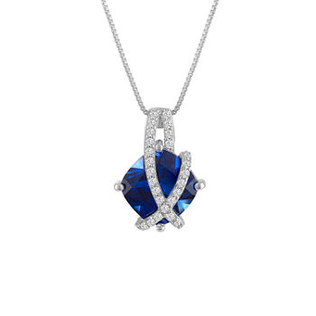 Sapphire fine necklaces pendants for jewelry watches jcpenney aloadofball Image collections