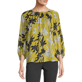 Worthington Womens Gathered Popover - Tall