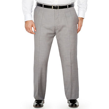 Stafford - Big and Tall Classic Fit Pleated Pant