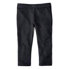Okie Dokie® Solid Denim Leggings - Baby Girls newborn-24m