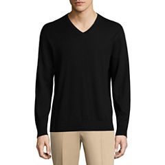 Claiborne V Neck Long Sleeve Pullover Sweater