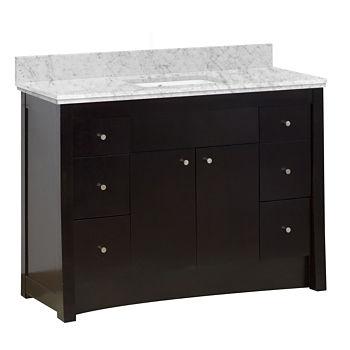 American Imaginations Elite Rectangle Floor Mount8 In O C Center Faucet Vanity Set