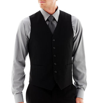 Mens Black Suit Vest TouK