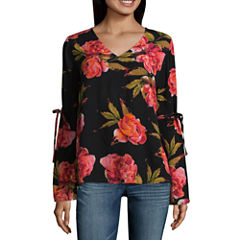 a.n.a 3/4 Sleeve Woven Floral Blouse-Talls