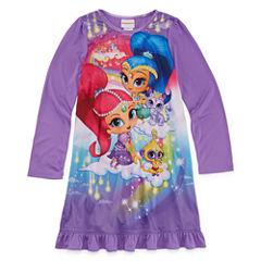 Shimmer And Shine Long Sleeve Nightshirt-Preschool Girls
