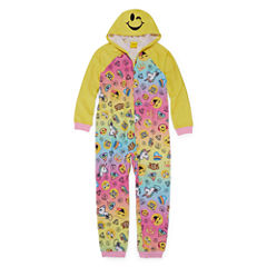 Emoji, Inc. Long Sleeve One Piece Pajama-Big Kid Girls