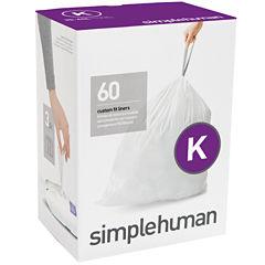 simplehuman® Custom Fit Trash Can Liners Code K - 60-Pack