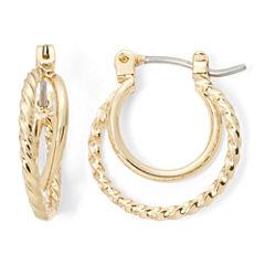 Monet® Gold-Tone 2-Row Orbital Hoop Earrings