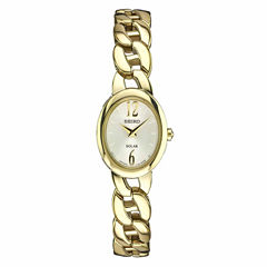 Seiko Womens Gold Tone Bracelet Watch-Sup338