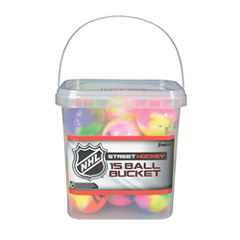 Franklin Sports NHL Extreme Color Street Hockey Ball Bucket