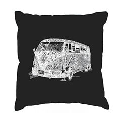 Los Angeles Pop Art THE 70'S Throw Pillow Cover