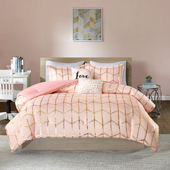 textile queen in bedding pink princess item from set ruffle bedroom twin sets lace white romantic rose home