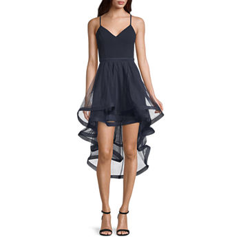 City Triangle Sleeveless High-Low Party Dress-Juniors