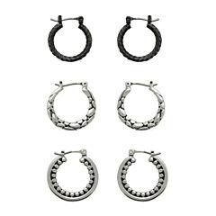 Sensitive Ears 3 Pair Stainless Steel Earring Sets