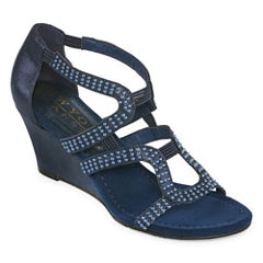 New York Transit Natural Womens Wedge Sandals