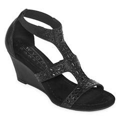 New York Transit Nature'S Way Womens Wedge Sandals