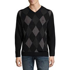 U.S. Polo Assn. Long Sleeve V-Neck Argyle Sweater
