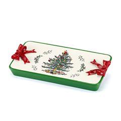 Avanti Spode Christmas Tree Vanity Tray
