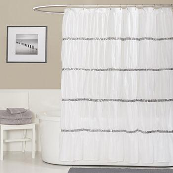 Lush Dcor Samantha Shower Curtain Add To Cart White EXTREME VALUE