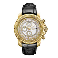 JBW 18k Gold-Plated Stainless-Steel Titus Mens Black Strap Watch-J6347l-B