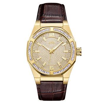 Mens Strap Jbw Watch Diamond J6350b Brown xrCBedo