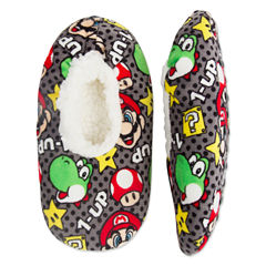 Mario Fuzzy Slippers- Boys