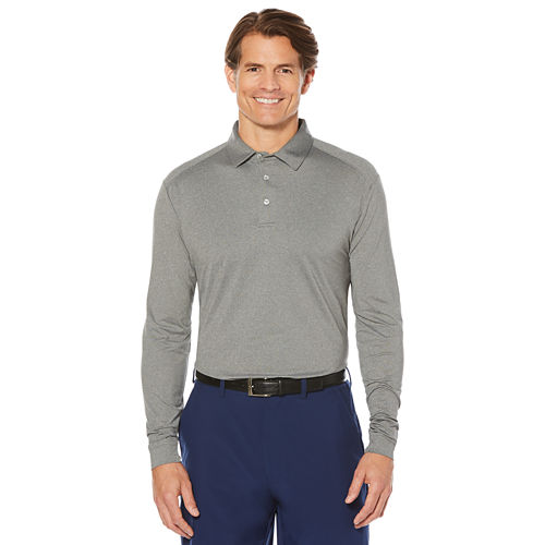 PGA TOUR Long Sleeve Mesh Polo Shirt