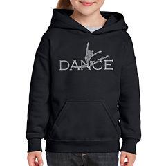Los Angeles Pop Art Dancer Long Sleeve Sweatshirt Girls