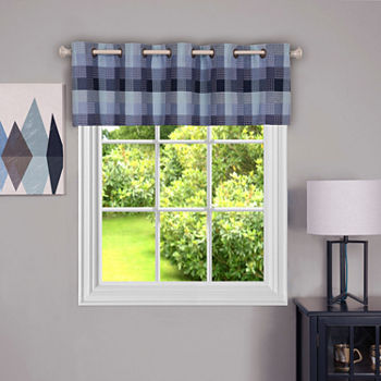Harvard Check Grommet-Top Tailored Valance