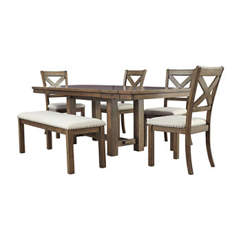Astonishing Signature Design By Ashley Kavarna Rectangular Wood Top Dining Table Machost Co Dining Chair Design Ideas Machostcouk