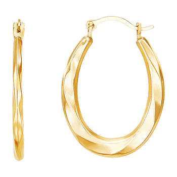 10K Gold 22mm Hoop Earrings