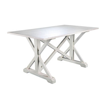Southern Enterprises Macla Table Rectangular Wood-Top Dining Table