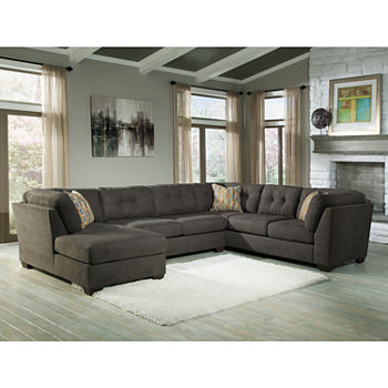 Signature Design By Ashley Delta City 3 Pc Sleeper Sofa Sectional