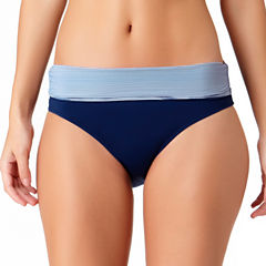 Liz Claiborne Stripe High Waist Swimsuit Bottom