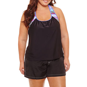 Plus Size Swimsuits Amp Cover Ups For Women Jcpenney