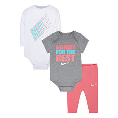 Nike 3-pc. Pant Set Baby Girls