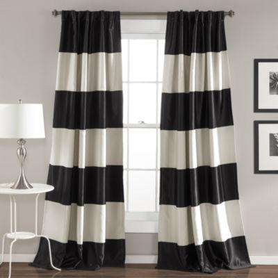 Lush Decor Montego 2 Pack Room Darkening Curtain Panel